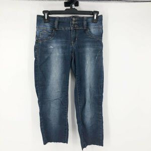 YMI Wanna Betta Butt Distressed Skinny Capri Jeans